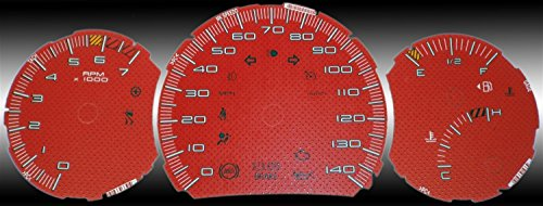 US Speedo GP085 - Daytona Edition Gauge Faces - Red / Red Night - 140 MPH - for: Pontiac Grand Prix Se, Gt, Gtp Pontiac Grand Prix Instrument