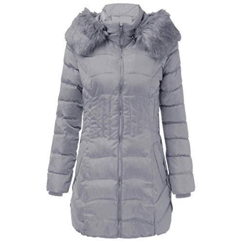 avec Manteau en Courte Hiver Manteau Femme Chaud Doudoune Fermeture Fourrure Col avec S8qwvgvd