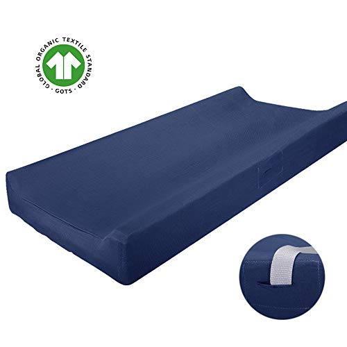 navy blue changing pad cover - 6