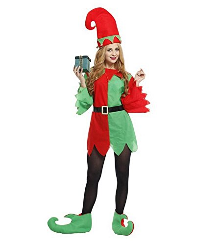 Ninja Lady Warrior Costumes (ZSY Women's Halloween Elves Of Christmas fairy suit Costume)