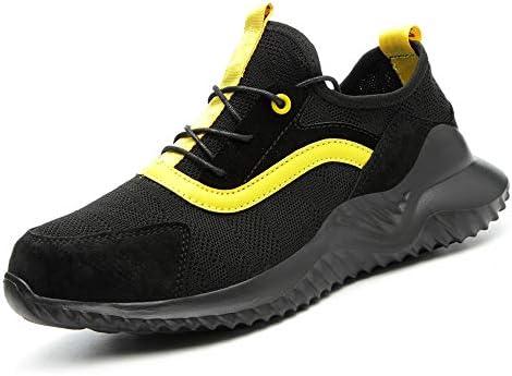 BESKEE Sicherheitsschuhe Herren S3 Sportlich Leicht Arbeitsschuhe Damen Atmungsaktiv Stahlkappe Sneaker 35-46