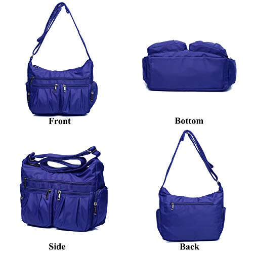 Crossbody Bags for Women, Multi Pocket Shoulder Bag Waterproof Nylon Travel Purses and Handbags by VOLGANIK ROCK (Image #4)