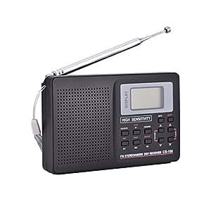 Amazon.com: Oumij Receptor de radio FM/AM/SW/LW/TV de sonido ...