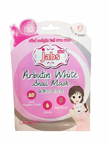 [4 mask sheets of Jabs, Arbutin White Snail Mask. Sanail Secretion Filtrate, Arbutin, Beta Glucan. Made in] (Honey Bee Costume Face Paint)