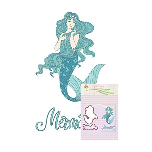 wintefei Mermaid Metal Cutting Die Stencil + Stamp for DIY Scrapbooking Photo Album Card
