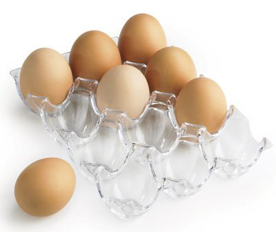 12 Egg Crystal Clear Plastic Egg Storage Tray