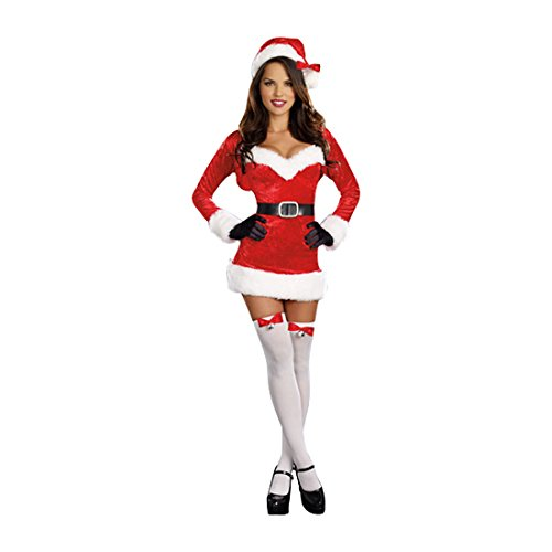 Dreamgirl Women's Santa Baby Costume, Red, Small ()