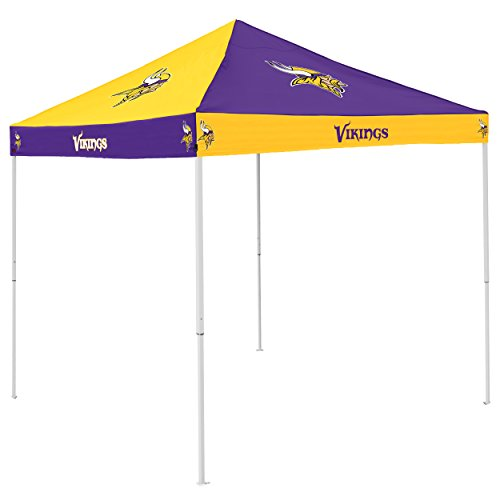 Logo Brands NFL Minnesota Vikings Checkerboard Tent Checkerboard Tent, Purple, One Size (Valance Vikings Minnesota)