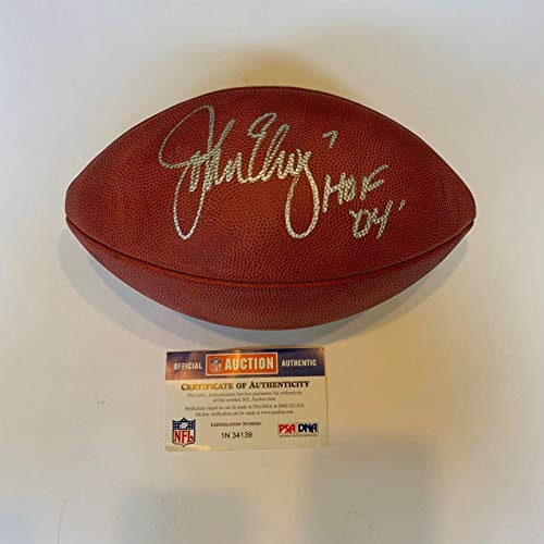 John Elway Autographed Football - #7 Hall Of Fame 2004 Authentic COA - PSA/DNA Certified - Autographed Footballs