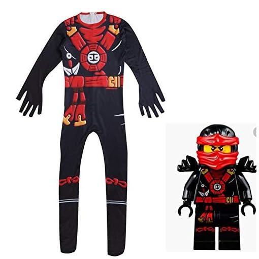 Noonan. Ninja Costume Kids Cosplay Jumpsuits for Boys Girls Junior Halloween Dressing up