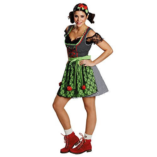 Kostüm Funny Dirndl Gr. 36 - 42 Fasching Karneval Damen Tracht Kleid Oktoberfest (38)