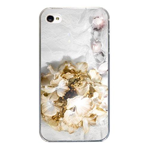 """Disagu Design Case Coque pour Apple iPhone 4 Housse etui coque pochette """"Flowers 'n' Diamonds"""""""