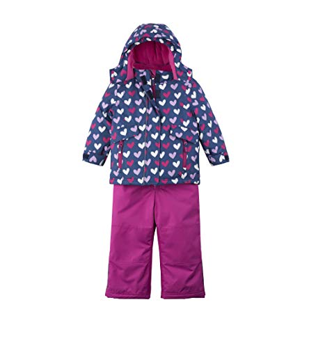 Hatley Girls' Toddler Snow Suit Set, Multi Hearts, 4 Years ()