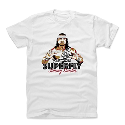 500 Levels Jimmy Snuka Cotton T Shirt Xxxl White   Jimmy Snuka Superfly D   Officially Licensed By Pro Wrestling Tees