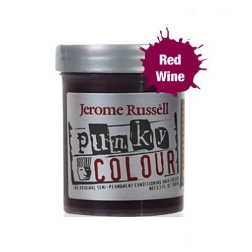 Red Hair Colour - Jerome Russell Semi Permanent Punky Colour Hair Cream 3.5oz Red Wine # 1442