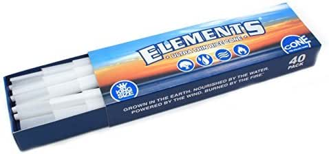 Elements Pre Rolled King Size Cones 40 Pack + Limited Edition Beamer Smoke Sticker