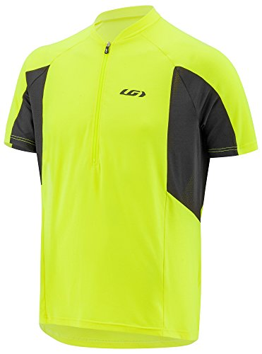 (Louis Garneau Men's Connection Lightweight, Quick Dry, Short Sleeve Cycling Jersey, Bright Yellow, Medium)