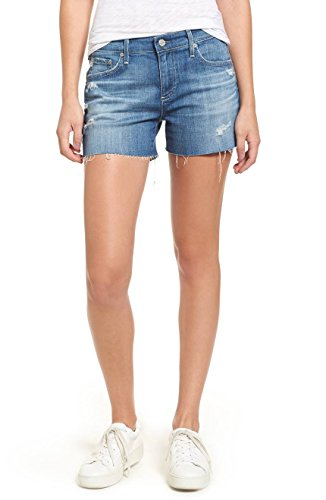 AG Adriano Goldschmied, Hailey Hight Waist Cutoff Denim Shorts, 14-Year Open Air Rip, 31 by AG