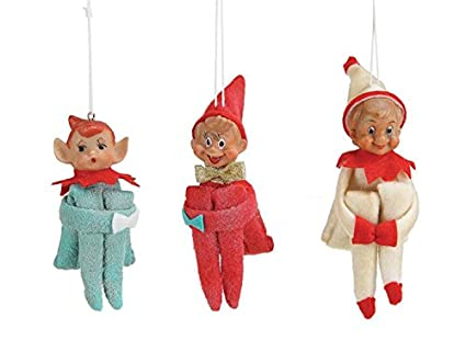 Fabric Vintage Reproduction Elf Ornaments SET OF 3 Styles Blue Red White  Country Christmas Holiday D - Amazon.com: Fabric Vintage Reproduction Elf Ornaments SET OF 3