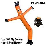 MOUNTO 10ft Air Puppet Dancer with blower Complete Set, 10-Feet (ORANGE)