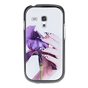 Caring Purple Flower Pattern Hard Back Case Cover for Samsung Galaxy S3 Mini I8190