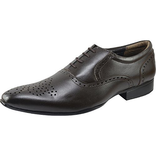 Vonzo Synthetic Oxford Leather Formal Men's Dress Lace Up Lined Modern Classic Shoes OzqYOrnaA