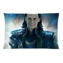 Tom Hiddleston The Avengers Loki Laufeyson Pillowcase Standard Size 20*30 Inch (approximate 50*76 cm) Design Cotton Pillowslip