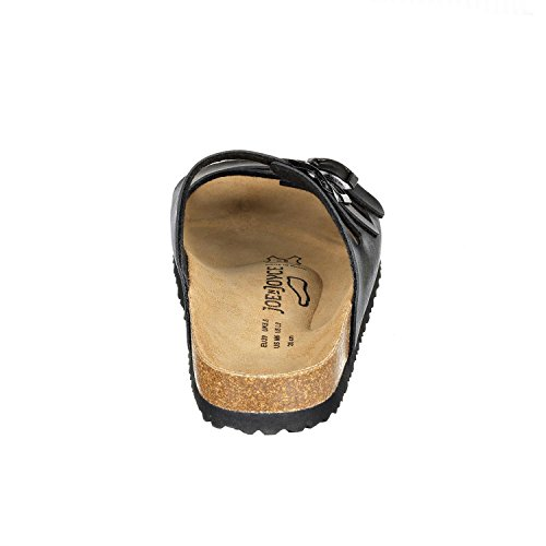 JOYCE Black SynSoft Women Slippers Cork N JOE Sandals Paris 7vafSaqw