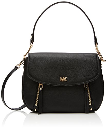 Evie large leather shoulder bag | MICHAEL Michael Kors Evie Medium Shoulder Flap, Black