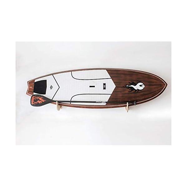Premium Rack realizzati a mano per SUP e Windsurf - Modello Shark Tooth con porta pagaia 1 spesavip