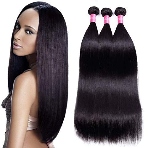 Brazilian Straight Hair 3 Bundles 20 22 24inch 10A Unprocessed Virgin Human Hair Bundles Natural Black Color Brazilian Hair Weave Extensions