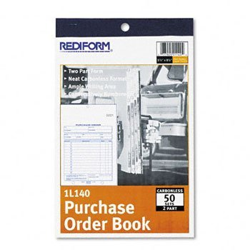 Rediform® Carbonless Purchase Order Book with Stop Card BOOK,#PO NCR 5.5X7-7/8DUP (Pack of20)