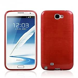 Drawing Phone TPU Leather Case For Samsung Galaxy Note 2 N7100 --- Color:Red -Big Paw Trading