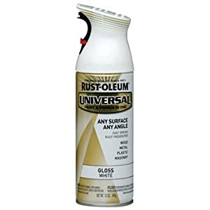 Rust-Oleum 245199 Universal All Surface Spray Paint, 12 oz, Gloss White