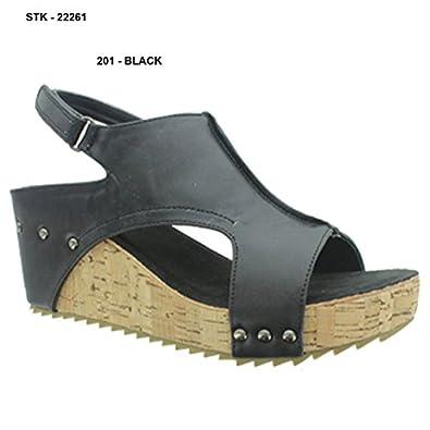 Pierre Dumas Giselle-1 Womens Slingback Open Toe Platform