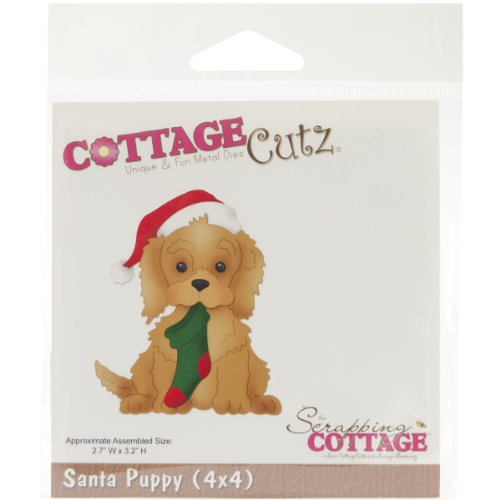 Santa Puppy (CottageCutz Die Cuts with Foam, 4 by 4-Inch, Santa Puppy)