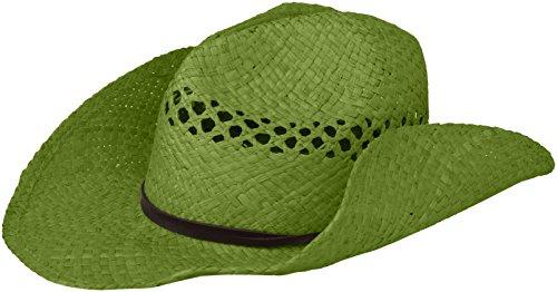 San Diego Hat Company Women's Raffia Cowboy Hat, Green, One Size -