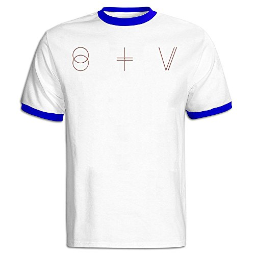 TIKE Men's St Vincent Short Sleeve Ringer T-shirt Color RoyalBlue Size XL