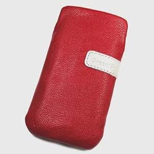 Funda Pochette de piel sintética rojo para Yezz Andy 3.5EI