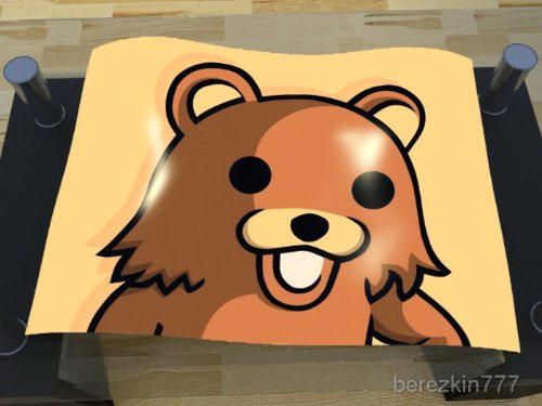 Pedo Bear Internet Web Memes Animal Ted Poster Print