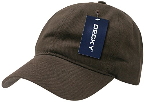 DECKY Low Crown Brushed Cotton Cap, Brown Decky Brands Group 307-BRN