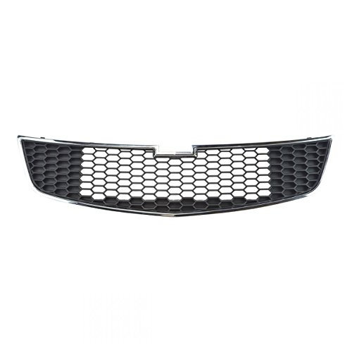 Front Lower Chrome Black Grill Grille Assembly for 11-14 Chevrolet Cruze
