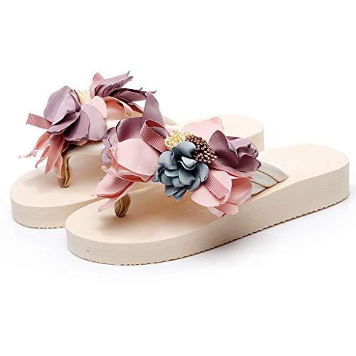Scarpe Fiori Antiscivolo Huyp Fondo Pantofole Femminile dimensioni 40 Estate Moda Spesso Infradito Spiaggia EqvZwZRUt