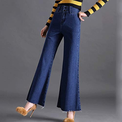 Mujer Jeans de Ancha 1 RXF Alta Cintura Pantalones Jeans angostos Flare Pierna Estrechos de Estiramiento qExU4