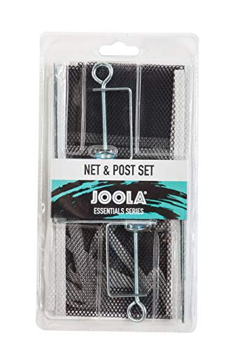 JOOLA Essentials Series Regulation Table Tennis Replacement Net and Post Set | Fits Standard Size Ping Pong Tables up to 2 inches | USATT Approved
