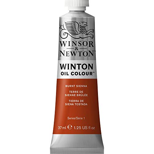 Winsor & Newton Winton Oil Colour Paint, 37ml tube, Burnt - 37ml Oil Winton Colour