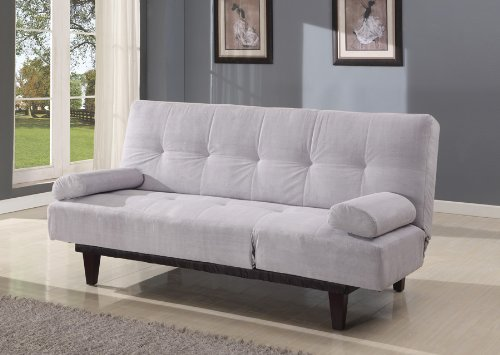 Acme 05855W-SI Cybil Adjustable Sofa Set with Two Pillows, Silver by ACME
