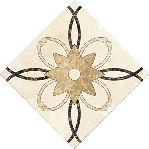 (Clearance Sale!DEESEE(TM)10 Pcs/Set Ceramic Tile Stickers Self Adhesive Tiles Art Diagonal 3D Floor Stick (D) )