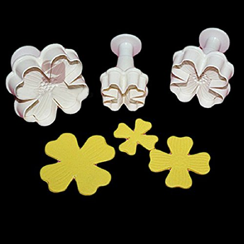 New 3pcs/set Flower Shape Cake Sugarcraft Plunger Decoration Diy Tool Mold Kitchen Accessories by Joylive (Image #2)