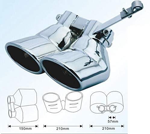 Auspuffblende Endrohr C-Klasse W203 Doppelrohr Edelstahl